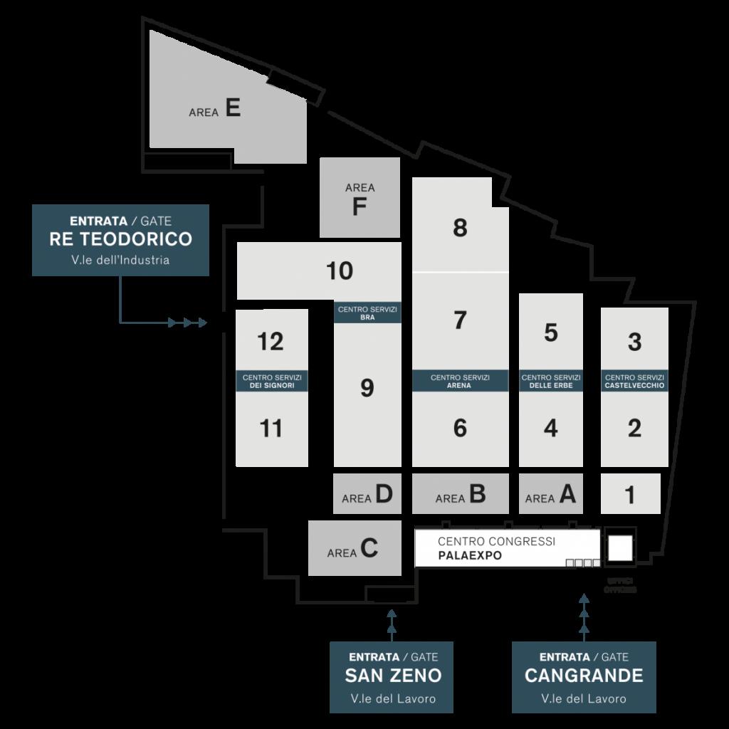 Mappa FieraCavalli Verona
