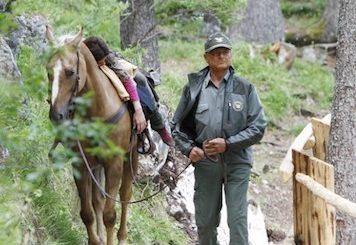 Terence-Hill con il cavallo