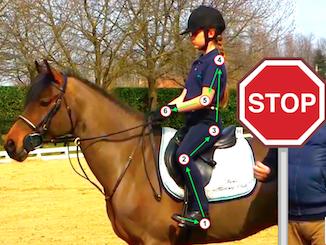 Sequenza di azioni per fermare il cavallo
