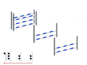 Doppia gabbia: Verticale + verticale + oxer