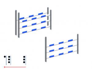 Gabbia verticale + oxer