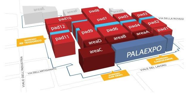 Fieracavalli Verona mappa 3D