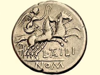 Moneta con due cavalli