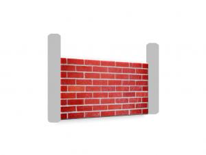 Muro rustico in mattoni