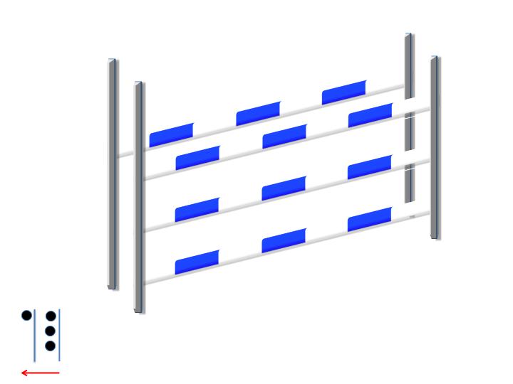 Oxer carré 3 +1