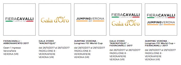 Biglietti Fieracavalli Verona 2017