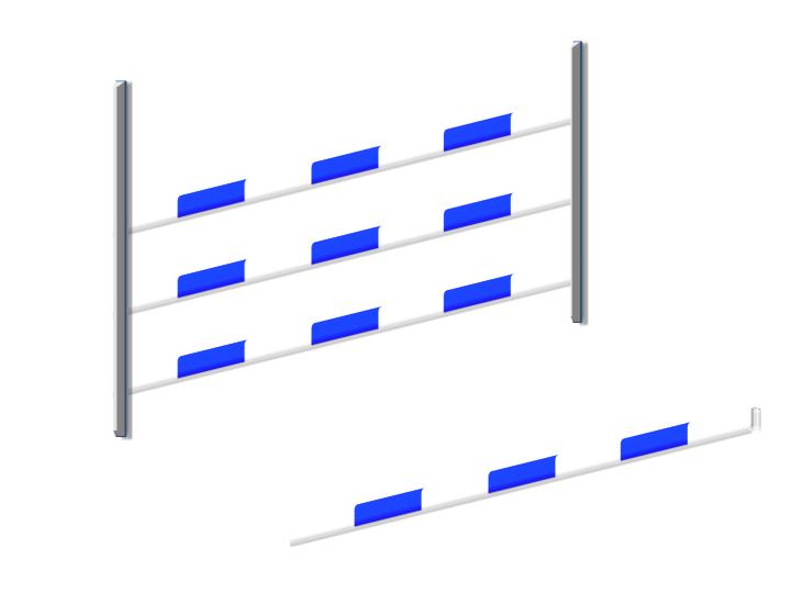 Verticale a 3 barriere con battuta